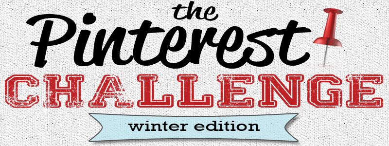 pinterestchallengebanner1winter The Picaken Pinterest Challenge